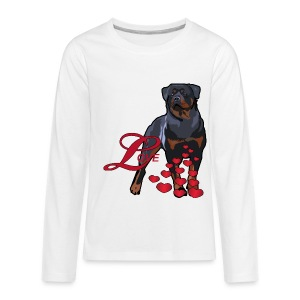 Love Is A Rottweiler - Kids' Premium Long Sleeve T-Shirt