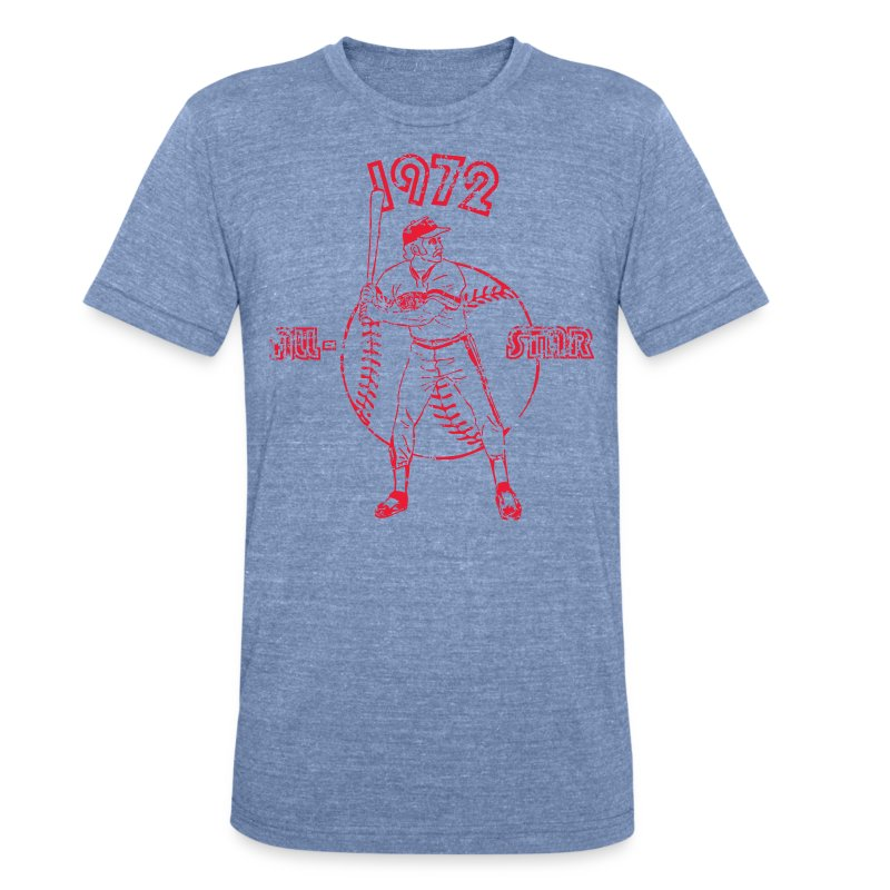 Vintage Graphic Baseball All-Star - Unisex Tri-Blend T-Shirt by American Apparel