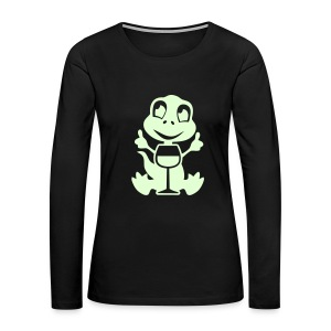 wino saur - glow in the dark product Long Sleeve Shirts - Women's Premium Long Sleeve T-Shirt
