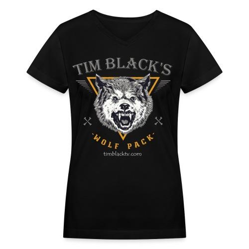 Tim Black's Wolfpack Women's Growl VNeck - Women's V-Neck T-Shirt