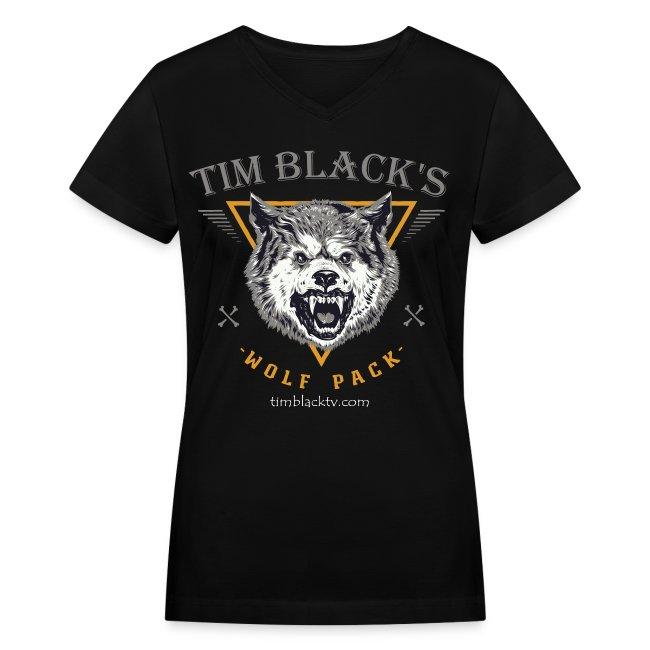 Tim Black's Wolfpack Women's Growl VNeck