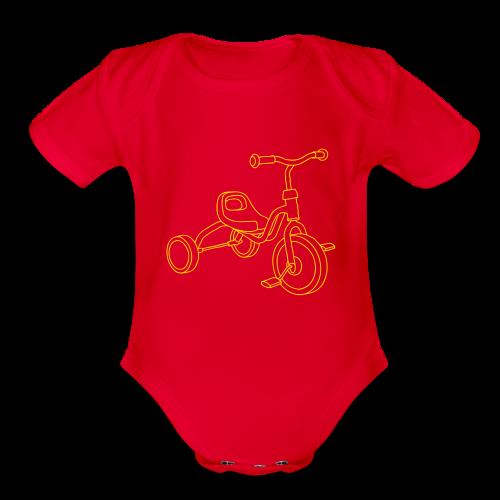 Tricycle - Organic Short Sleeve Baby Bodysuit
