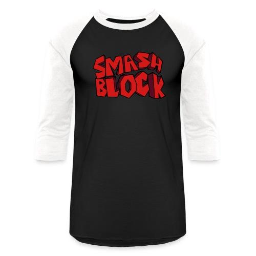 Smash Block Unisex Baseball Shirt - Baseball T-Shirt