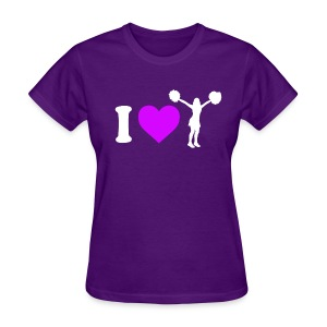 I Love Cheerleading - Women's T-Shirt