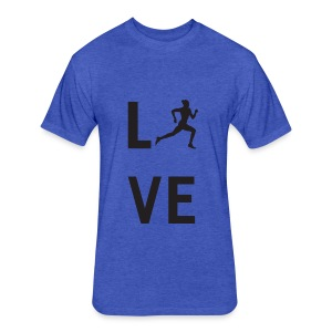 I Love Running T-Shirts - Fitted Cotton/Poly T-Shirt by Next Level