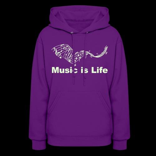 Music is Life - Women's Hoodie