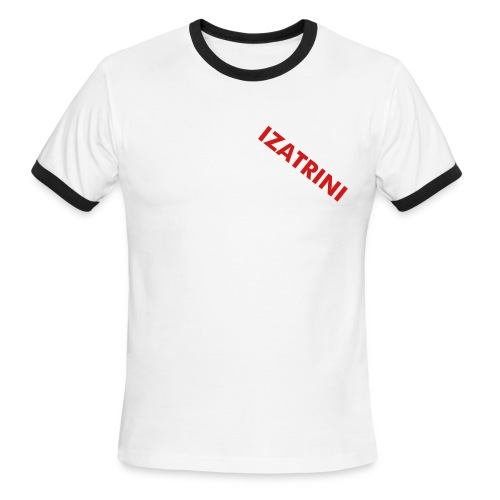 IZATRINI over heart - Men's Ringer T-Shirt