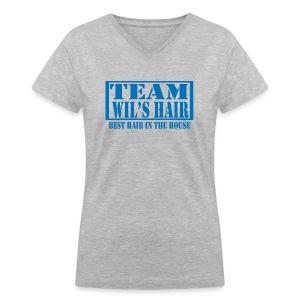 Team Wil's Hair - Women's V-Neck T-Shirt