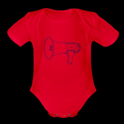 Megaphone bullhorn - Organic Short Sleeve Baby Bodysuit
