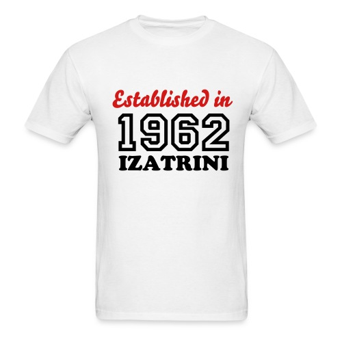 ESTABLISHED IN 1962 IZATRINI - Men's T-Shirt
