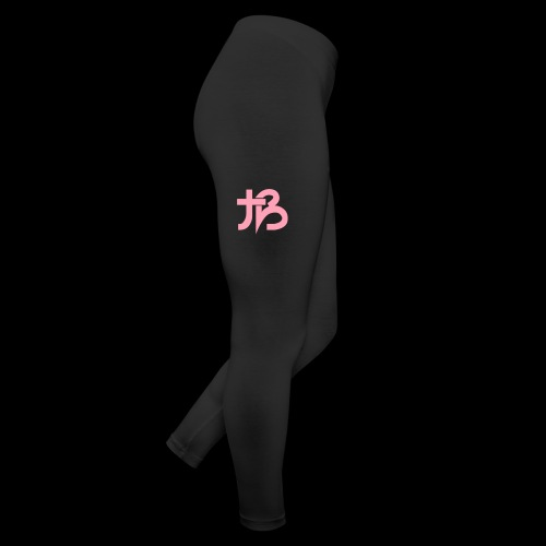 Bubble Leggings (Black w/ Pink Logo) - Leggings