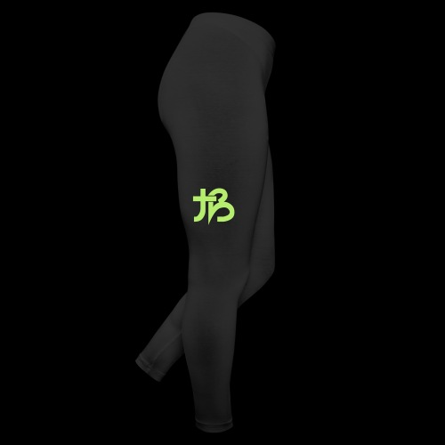 Bubble Leggings (Black w/ Green Logo) - Leggings