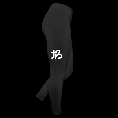 Bubble Leggings (Black w/ White Logo) - Leggings