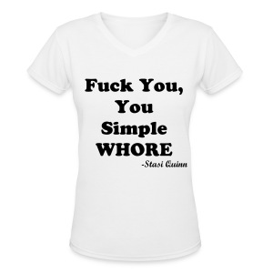 Simple Whore - Women's V-Neck T-Shirt