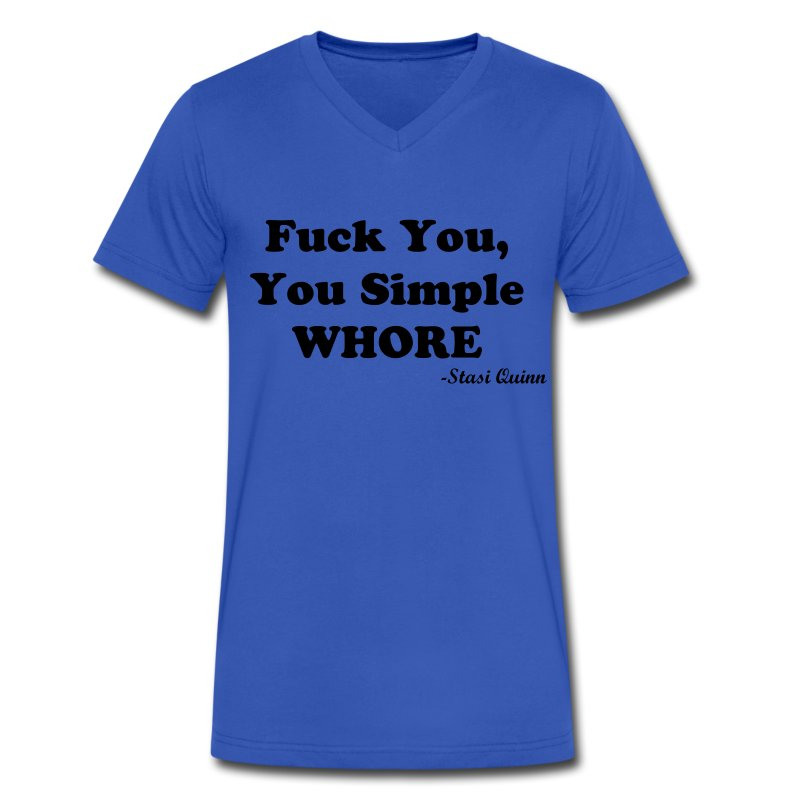 Simple Whore - Men's V-Neck T-Shirt by Canvas