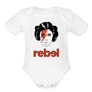 Rebel Princess  - Short Sleeve Baby Bodysuit