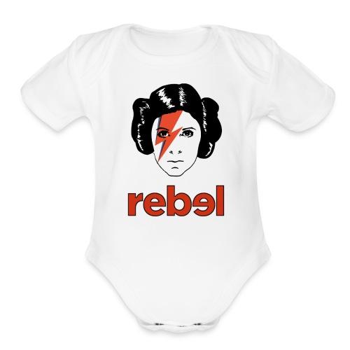 Rebel Princess  - Organic Short Sleeve Baby Bodysuit