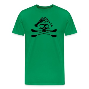Miles Paddled Logo (Front + Back) - Men's - Men's Premium T-Shirt
