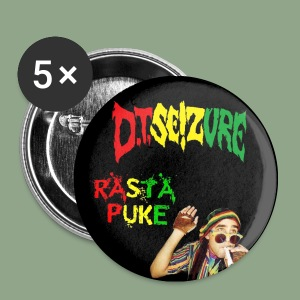 D.T. Seizure - Rasta Puke Button - Small Buttons