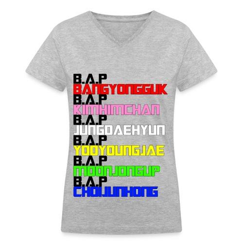 B.A.P Member's Names Women's V-Neck  - Women's V-Neck T-Shirt
