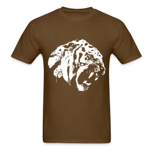 Brown Tiger T-Shirt FLEX print animal - Men's T-Shirt