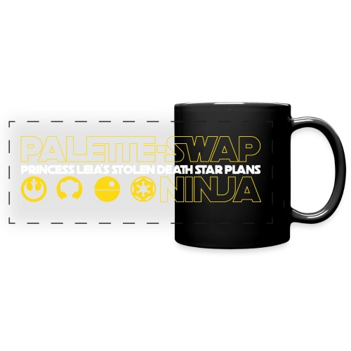 Palette-Swap Ninja - Princess Leia's Stolen Death Star Plans - Coffee Mug - Full Color Panoramic Mug