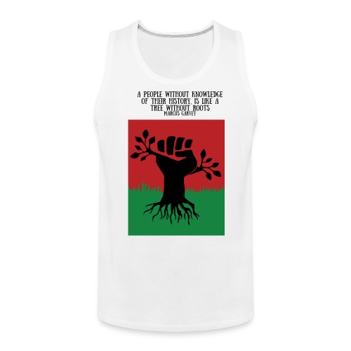 Deeply Rooted  - Mens Cut Tank Top - Black Lettering - Men's Premium Tank