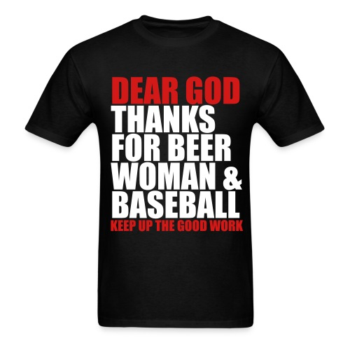 Beer, Woman, and Baseball - Men's T-Shirt