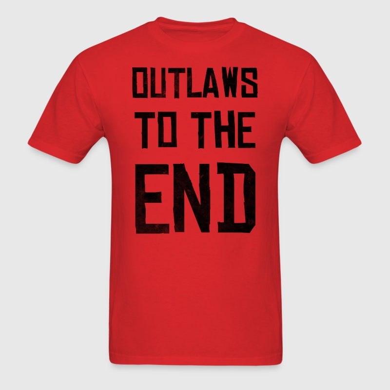 Outlaws To The End - Men's T-Shirt