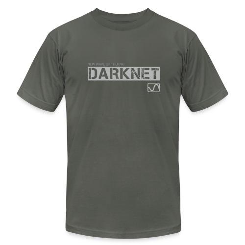 Darknet label t-shirt, asphalt - Men's  Jersey T-Shirt