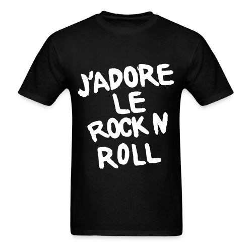 J adore Le Rock n Roll - Men's T-Shirt