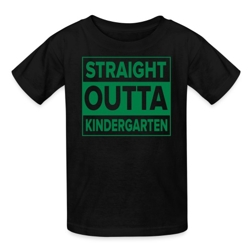 KIDS Straight Outta Kindergarten GREEN FLAT - Kids' T-Shirt