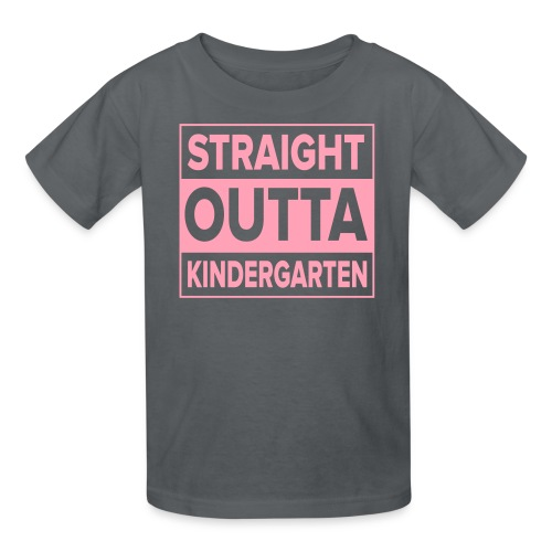 KIDS Straight Outta Kindergarten Light PINK FLAT - Kids' T-Shirt