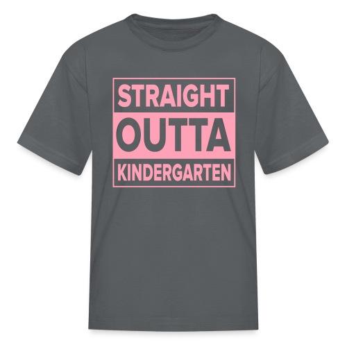 KIDS Straight Outta Kindergarten Light PINK FLAT - Kids' T-Shirt