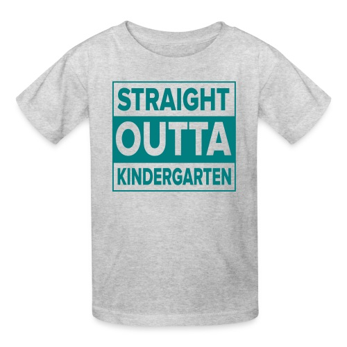 KIDS Straight Outta Kindergarten TEAL FLAT - Kids' T-Shirt