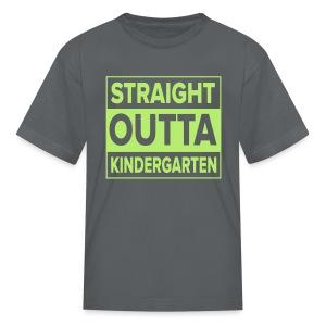 KIDS Straight Outta Kindergarten LIME GREEN FLAT - Kids' T-Shirt