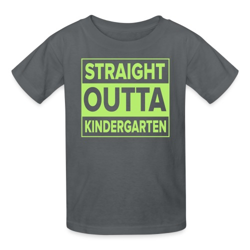 KIDS Straight Outta Kindergarten LIME GREEN FLAT - Kids' T-Shirt