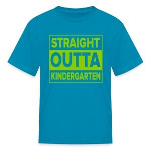 KIDS Straight Outta Kindergarten APPLE GREEN FLAT - Kids' T-Shirt
