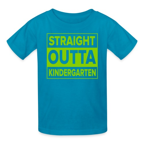 KIDS Straight Outta Kindergarten APPLE GREEN FLAT - Kids' T-Shirt
