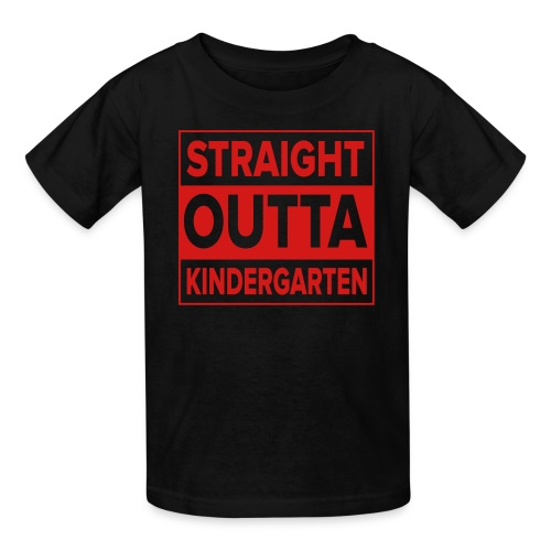 KIDS Straight Outta Kindergarten RED FLAT - Kids' T-Shirt