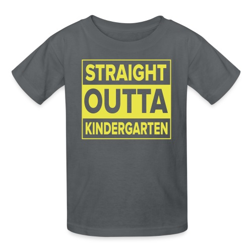 KIDS Straight Outta Kindergarten YELLOW FLAT - Kids' T-Shirt