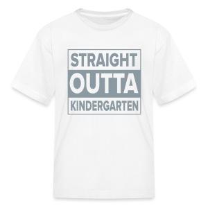 KIDS Straight Outta Kindergarten GRAY  FLAT - Kids' T-Shirt