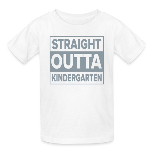 KIDS Straight Outta Kindergarten GRAY  FLAT - Kids' T-Shirt