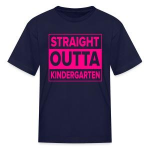 KIDS Straight Outta Kindergarten NEON PINK - Kids' T-Shirt