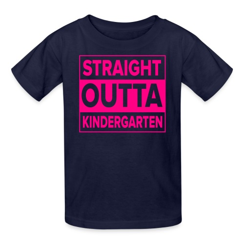 KIDS Straight Outta Kindergarten NEON PINK - Kids' T-Shirt