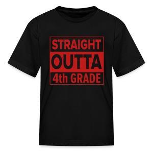KIDS Straight Outta 4th Grade RED GLITTER - Kids' T-Shirt