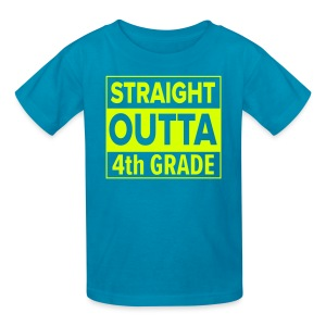 KIDS Straight Outta 4th Grade NEON YELLOW - Kids' T-Shirt