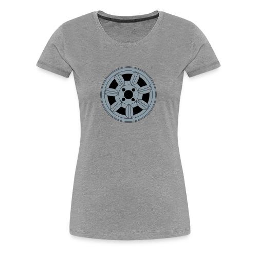 Daisy Wheel (ladies, black text) - Women's Premium T-Shirt