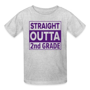 KIDS Straight Outta 2nd Grade PURPLE FLAT - Kids' T-Shirt