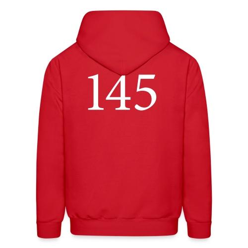 145 Men's Red Hooded Sweatshirt Design A - Men's Hoodie